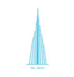 a freehand design burj khalifa mega vector image
