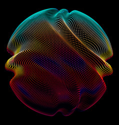 Abstract colorful mesh sphere on vector