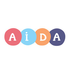Aida handwritten concept attention interest vector