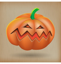 Angry pumpkin vintage background vector