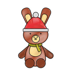 animal rabbit cartoon vector image