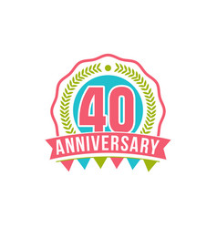Anniversary forty years number vector