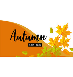 autumn big sale banner horizontal flat style vector image