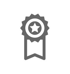 award icon reward sign star with ribbon vector image