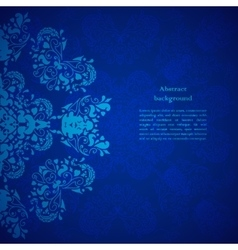 Blue floral background for presentation vector
