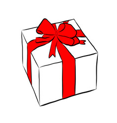 box with gift and bow vector image
