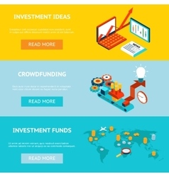 Business banners crowdfunding investment ideas vector