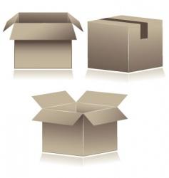Cardboard shipping boxes vector
