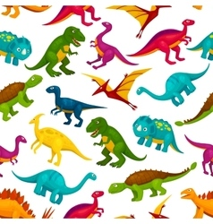 Cartoon dinosaurs children seamless pattern vector