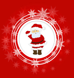 cartoon santa claus smiling red christmas vector image