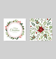 Christmas and new year background bright winter vector
