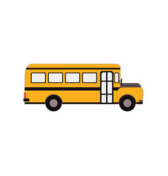 city public bus and vehicle transportation vector image