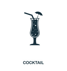 cocktail icon line style icon design ui vector image