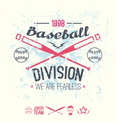 College baseball division emblem vector image vector image