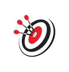 Darts Hitting A Target of vector image
