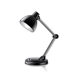 desk lamp isolated vector image