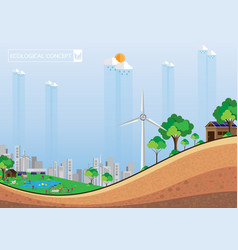 eco city abstract background vector image