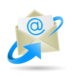email wrapped arrow vector image