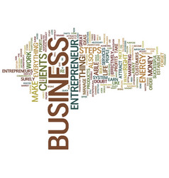 Entrepreneur profit text background word cloud vector
