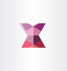 Female mini skirt origami icon vector