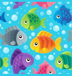 Fish theme seamless background 1 vector