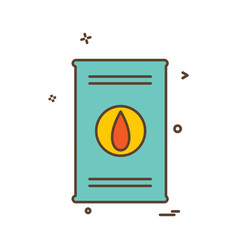 fuel icon design vector image