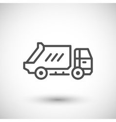 Garbage truck line icon vector