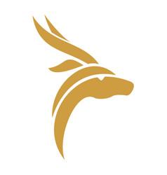 Gazelle-head-icon-logo vector