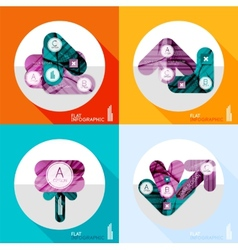 Geometric infographic set in trendy flat style vector image