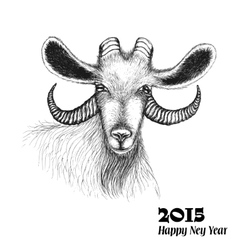 goat symbol 2015 new year vector image