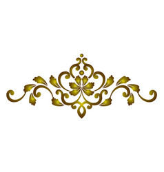 golden decorative element vector image