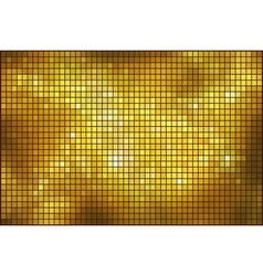 Golden mosaic background vector image