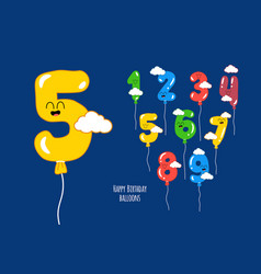 happy birthday numbers will make your vector image