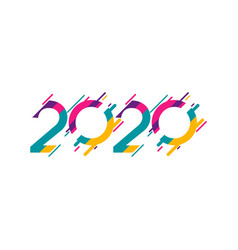 Happy new years 2020 celebration template design vector