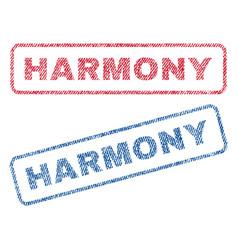 Harmony textile stamps vector