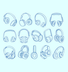 headphones wireless technology communication vector image