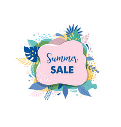 Hello summer abstract background summer sale vector