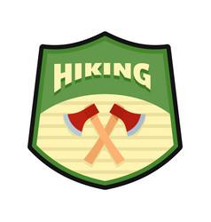hiking logo flat style vector image