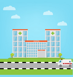 hospital building in flat style vector image