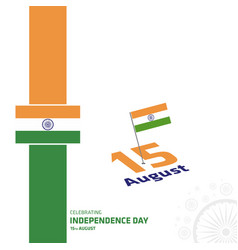india independence day card with creative design vector image