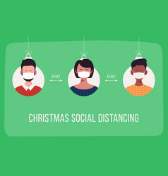 keep your distance social distance during vector image
