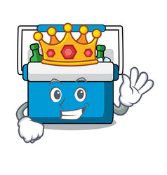 King freezer bag mascot cartoon vector