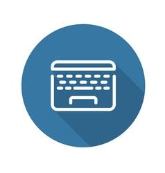 Laptop Flat Icon Flat Design vector image