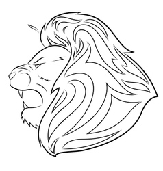Lion head 5 vector