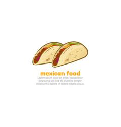 mexican tacos logo template vector image