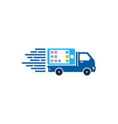 mobile delivery logo icon design vector image
