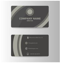 Modern business card print template trending vector