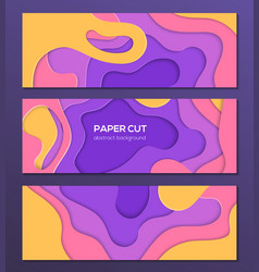 Multicolored abstract layout - set of modern vector