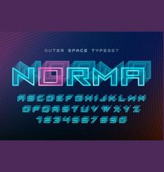 norma futuristic decorative font design vector image