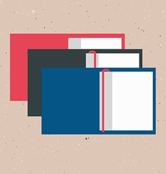 opened books in flat design style on text vector image